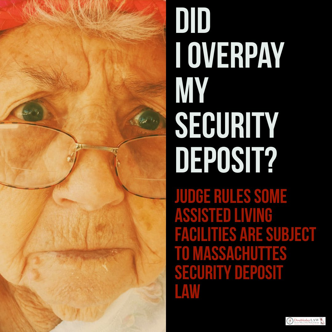 Assisted Living Facilities Must Comply with  Security Deposit Statue